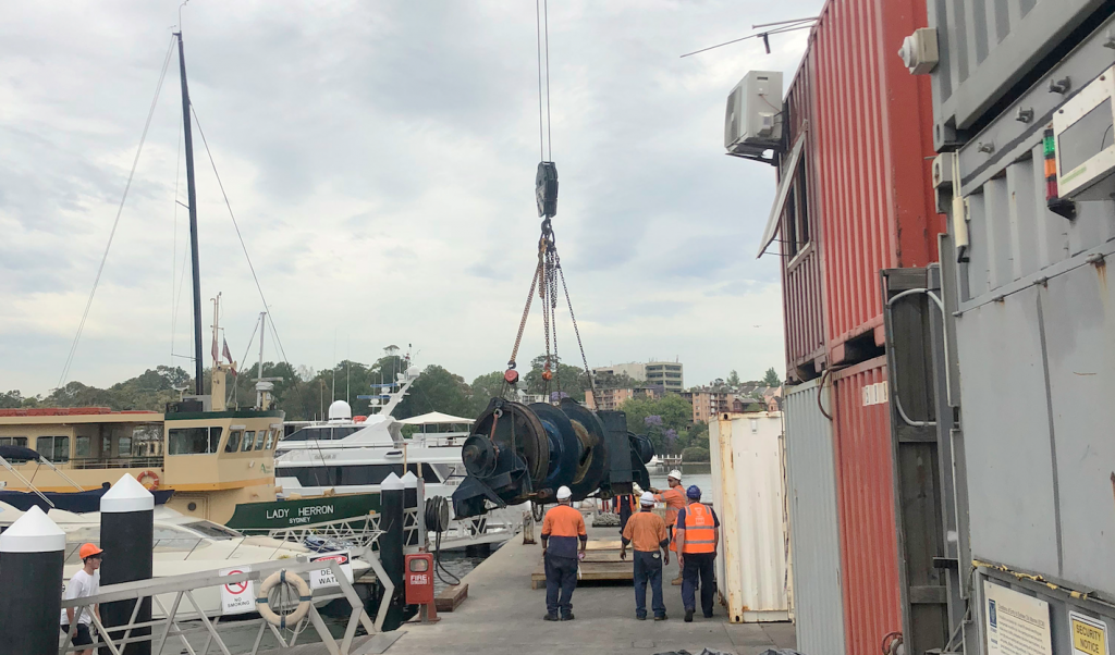Sydney City Marine and Halliday Eng. weld together