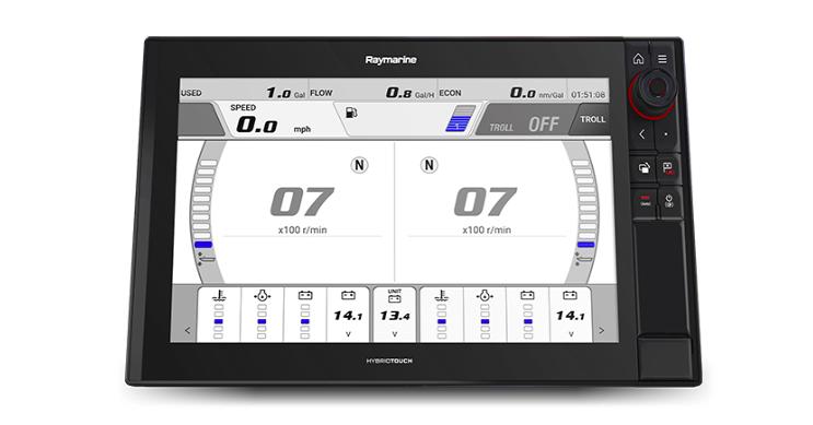 Raymarine Axiom adds Yamaha Command Link
