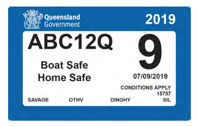 QLD boat rego stickers expire in October