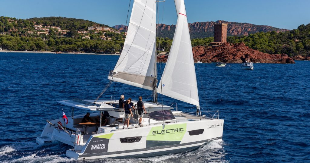 Volvo and Fountaine-Pajot reveal electric sailing cat
