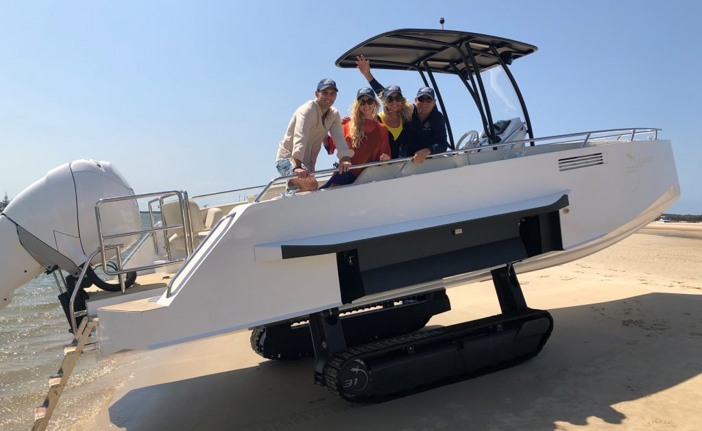 Amphibious exploration vessel headed to Great Barrier Reef