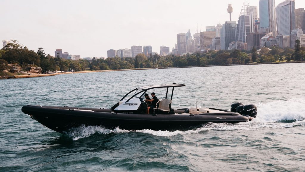 Ribco returns as official chase boat for Sydney SailGP