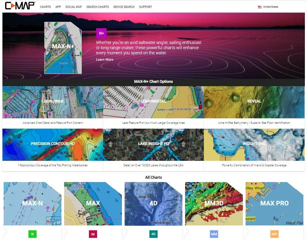 C-Map launches new website for rec boaters