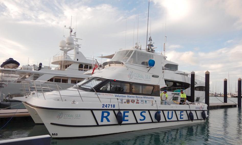 Coral Sea Marina Resort supporting marine rescue service