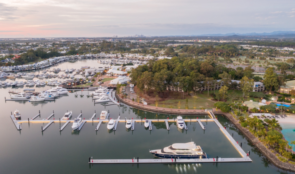 Superyachts setting sail to the Gold coast