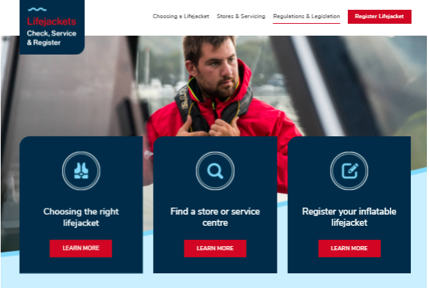 Check, Service, Register – single-source, reliable info for inflatable lifejackets