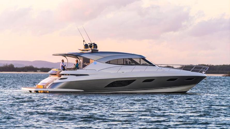 Riviera showcase at Palm Beach Boat Show